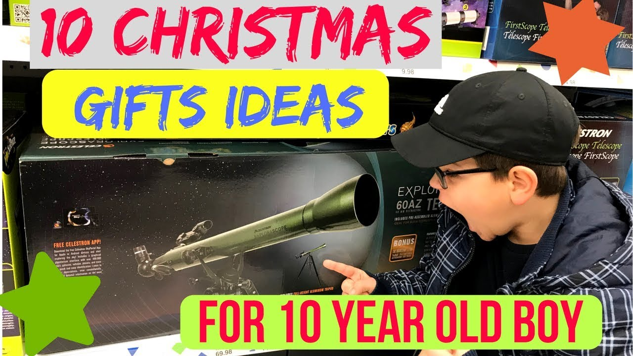 10 Christmas gifts ideas for 10 year old boy - YouTube