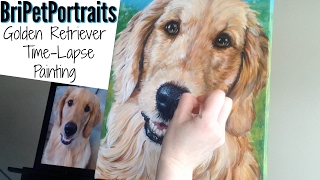 PET PORTRAIT TIME-LAPSE | CUSTOM PET PORTRAITS | TIME LAPSE PAINTING