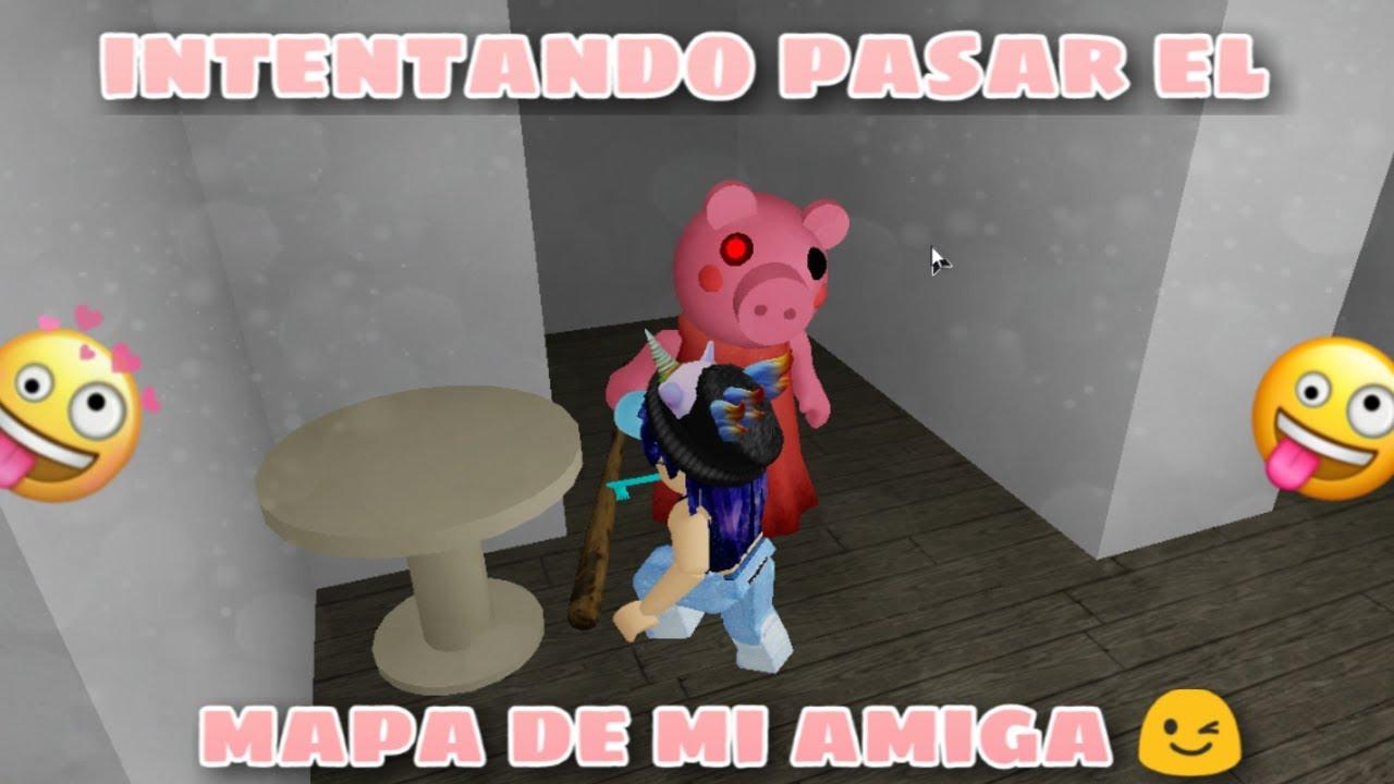 PROBANDO EL MAPA DE MI AMIGA EN PIGGY 🐽🔥EN ROBLOX