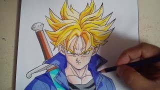COMO DIBUJAR A TRUNKS DEL FUTURO SSJ / how to draw future trunks