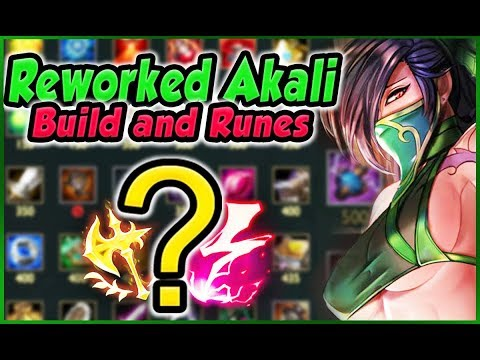 Reworked Akali Build, Runes, Combos and Playstyle