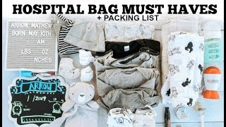 Hospital Delivery Packing List | What you NEED