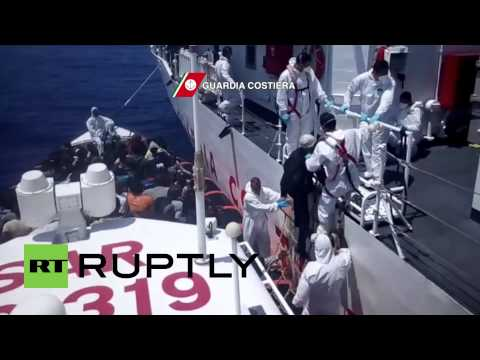 Italy: Coastguard pick up 414 migrants in 4 operations