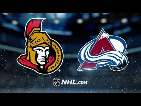 Ottawa Senators vs Colorado Avalanche – Oct.26, 2018 | Game Highlights | NHL 18/19 | Обзор матча
