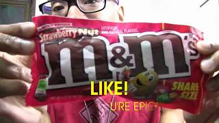 STRAWBERRY NUT M&MS | chocolate candy fruit sweets food foodie cocoa new american flavor usa hdjr2