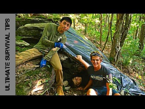 50 KIDS - Wilderness SURVIVAL CHALLENGE (15 Hours)