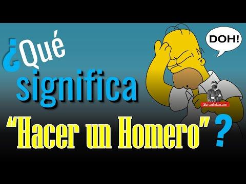 """¿Qué significa """"hacer un Homero""""?"""