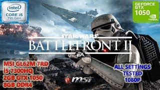 Star Wars Battlefront 2 i5 7300HQ GTX 1050 8GB RAM (All Settings Tested)