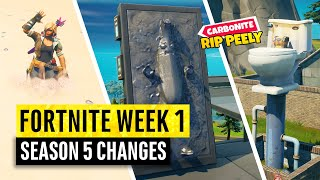 Fortnite | All Season 5 Map Updates and Hidden Secrets! WEEK 1 Zero Point