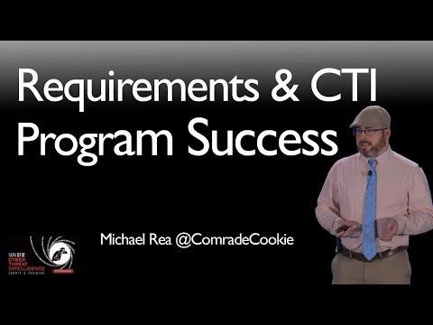 I Can Haz Requirements?: Requirements and CTI Program Success - SANS CTI Summit 2018