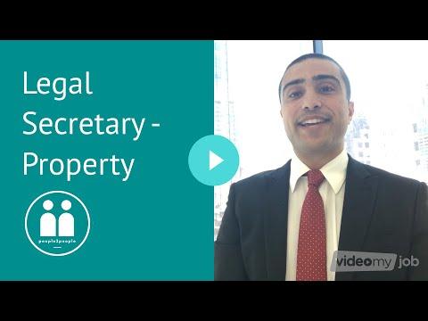 Legal Secretary Jobs - Property