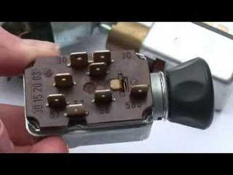 Vw Type 3 Wiring Diagram Simple Light Switch Nos Aircooled Headlight Switches - Bus, And 4 Youtube