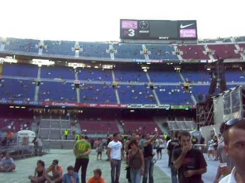 2 July 2009 - The stage and its surroundings before concert