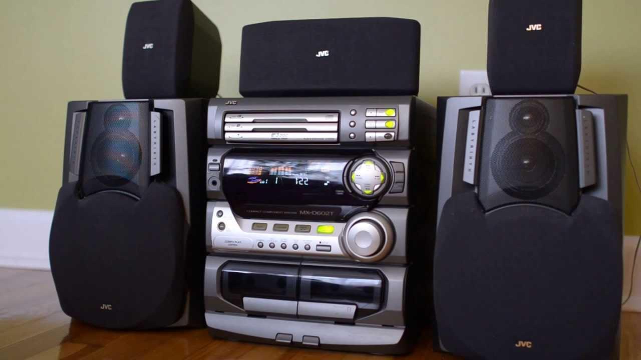 jvc mxd602t 5 speaker stereo system youtube