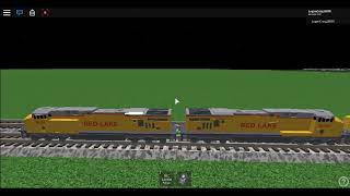 Operating a train on roblox.