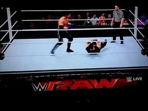WWE MONDAY NIGHT RAW:KEVIN OWENS VS AJ STYLES
