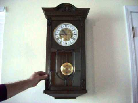 Antique Ave Maria Westminster Chime Wall Clock Youtube