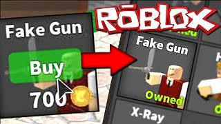 BUYING FAKE GUN PERK - ROBLOX MURDER MYSTERY 2