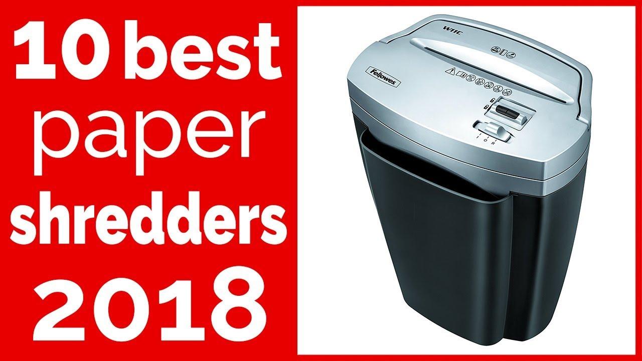 10 Best Paper Shredders Reviews 2018