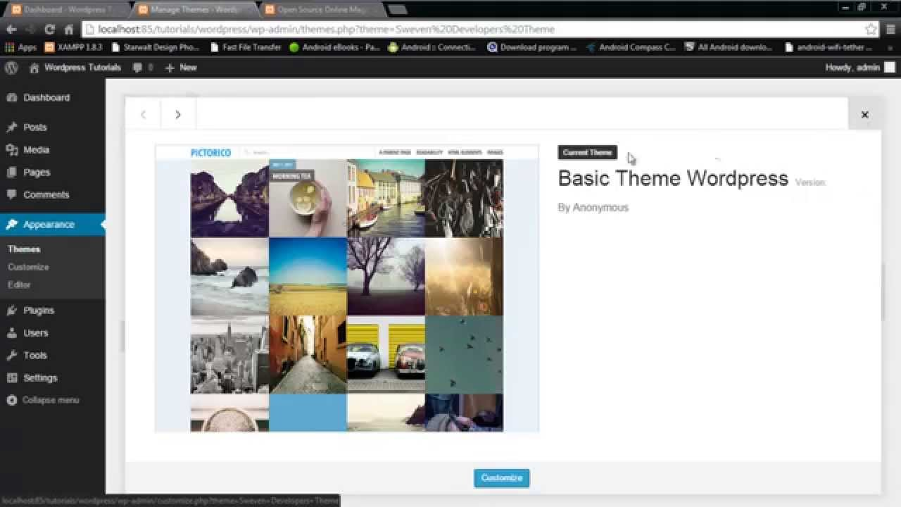 How to convert html theme into wordpress theme youtube for Convert html template to wordpress theme online