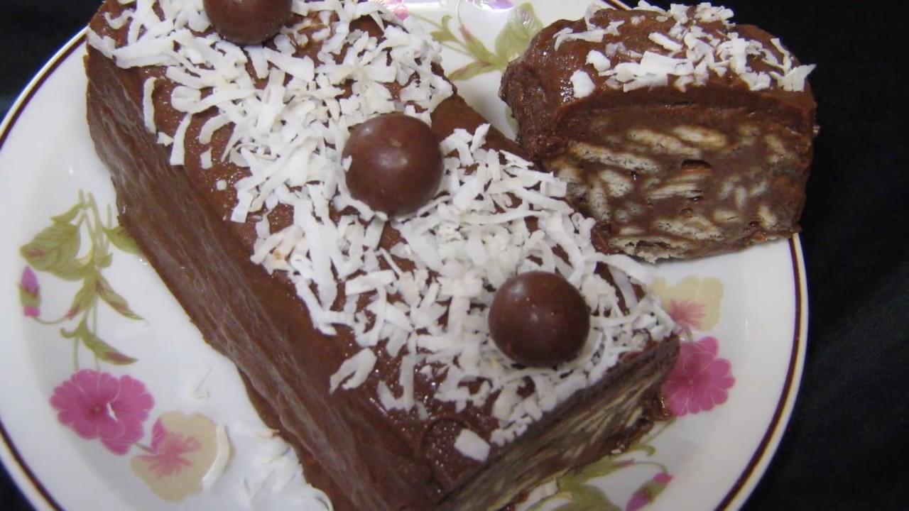 كيكة الشوكولاتة بالبسكويت حلوى بدون فرن حلويات سهلة وسريعة التحضير باردة - كيك بارد