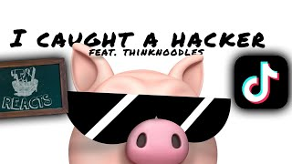 SOMEONE MADE A SONG FROM MY PIGGY HACKER VIDEO.. | Thinknoodles Reacts