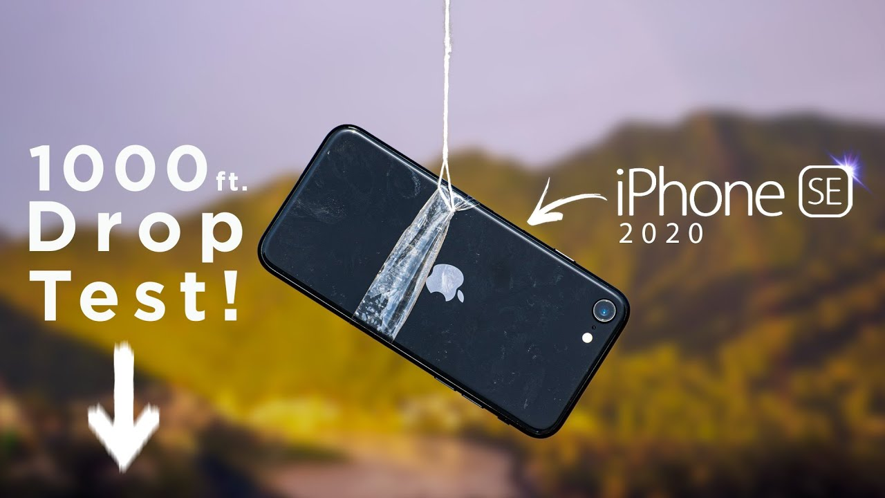 Apple I Phone SE 1000 Feet Drop Test - Will It Survive ?