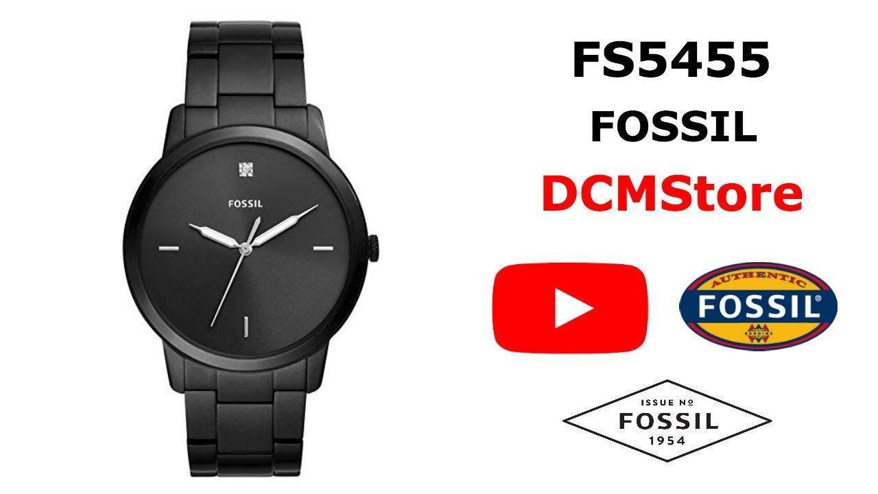 72972af59 FS5455 Fossil Minimalist Carbon Series Black Dial...... DCMStore ...
