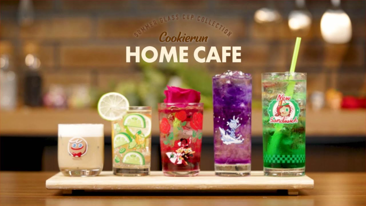 CookieRun Summer Glass Cup Collection 🍹