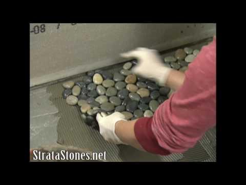 Pebble Tile Shower Installation on DIY Network