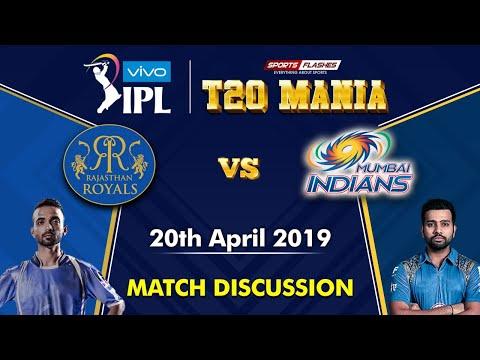 Rajasthan Vs Mumbai T20 | Live Scores and Analysis (English) | IPL 2019