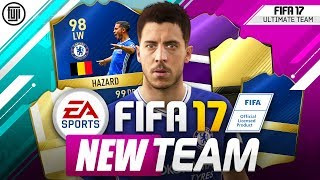 Fifa 17 my new team! new tactics! ft. tots hazard! - fifa 17 ultimate team