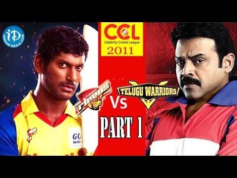 CCL 1 - Chennai Rhinos Match Vs Telugu Warriors Match Part 1