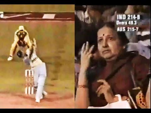 Kumble and Srinath get a thrilling win for India - Titan Cup 1996 | Kumble's mother cheering on