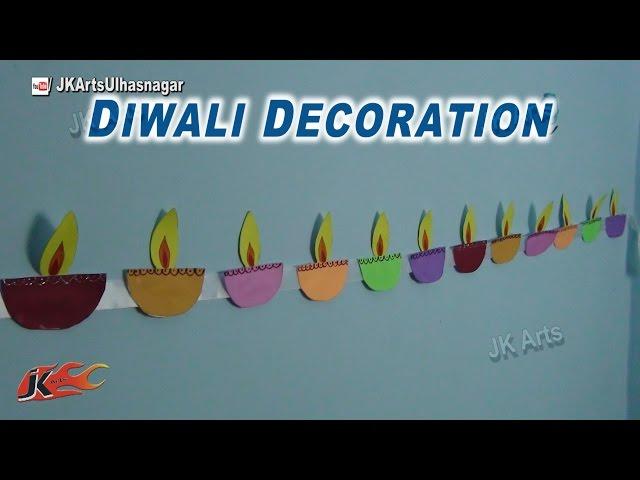 DIY Diwali Room Decor Ideas | Paper Diya Toran | How to make | JK Arts  772