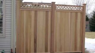 Cedar Deck With Privacy Fence By Marksmithcontracting.com