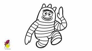 Brobee - Yo Gabba Gabba - how to draw YO Gabba Gabba - Brobee