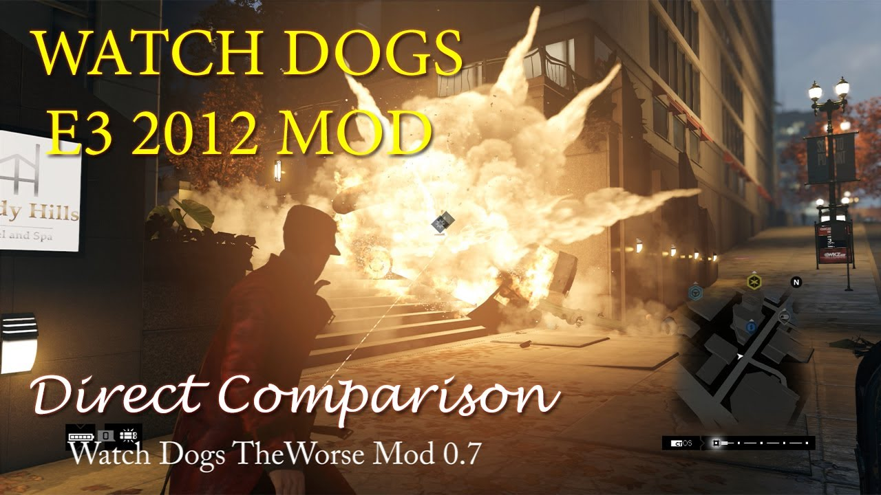 Watch dogs comparison video: theworse mod 1. 0 vs. Standard at.