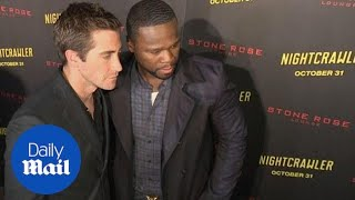 Jake Gyllenhaal and 50 Cent pose at Nightcrawler premiere in NY - Daily Mail