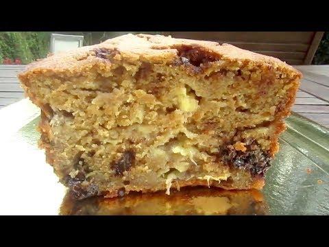 cake-moelleux-banane-et-pépites-de-chocolat---recette-socooking