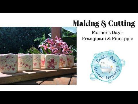 making-&-cutting-|-mother's-day-💜-👩-💐-artisan-cold-process-soap-|-bubble-boy-artisan-bathology-🛁