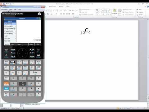 HP Prime - Statistics - Combinations