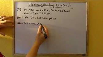Deckungsbeitrag (DB) berechnen (Rechnungswesen)