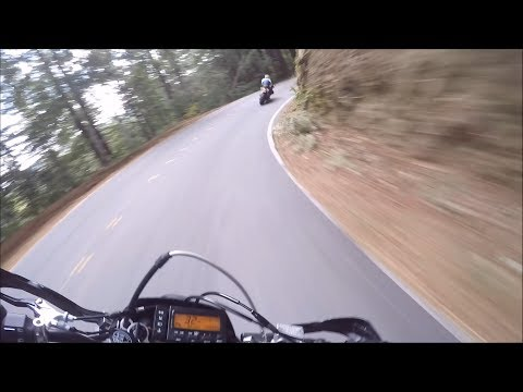 Chasing Sport Bikes & Eating Corners (Full Ride) - 2013 Suzuki DRZ400SM
