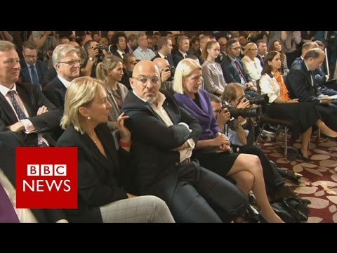 Moment Boris supporters heard he wouldn't run for Tory leadership - BBC News