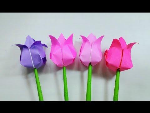 Origami Tulips ...พับดอกทิวลิป...