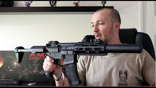 Ares Amoeba AM-014 - Suppressed SBR Rifle - Review / Chrono & Shooting