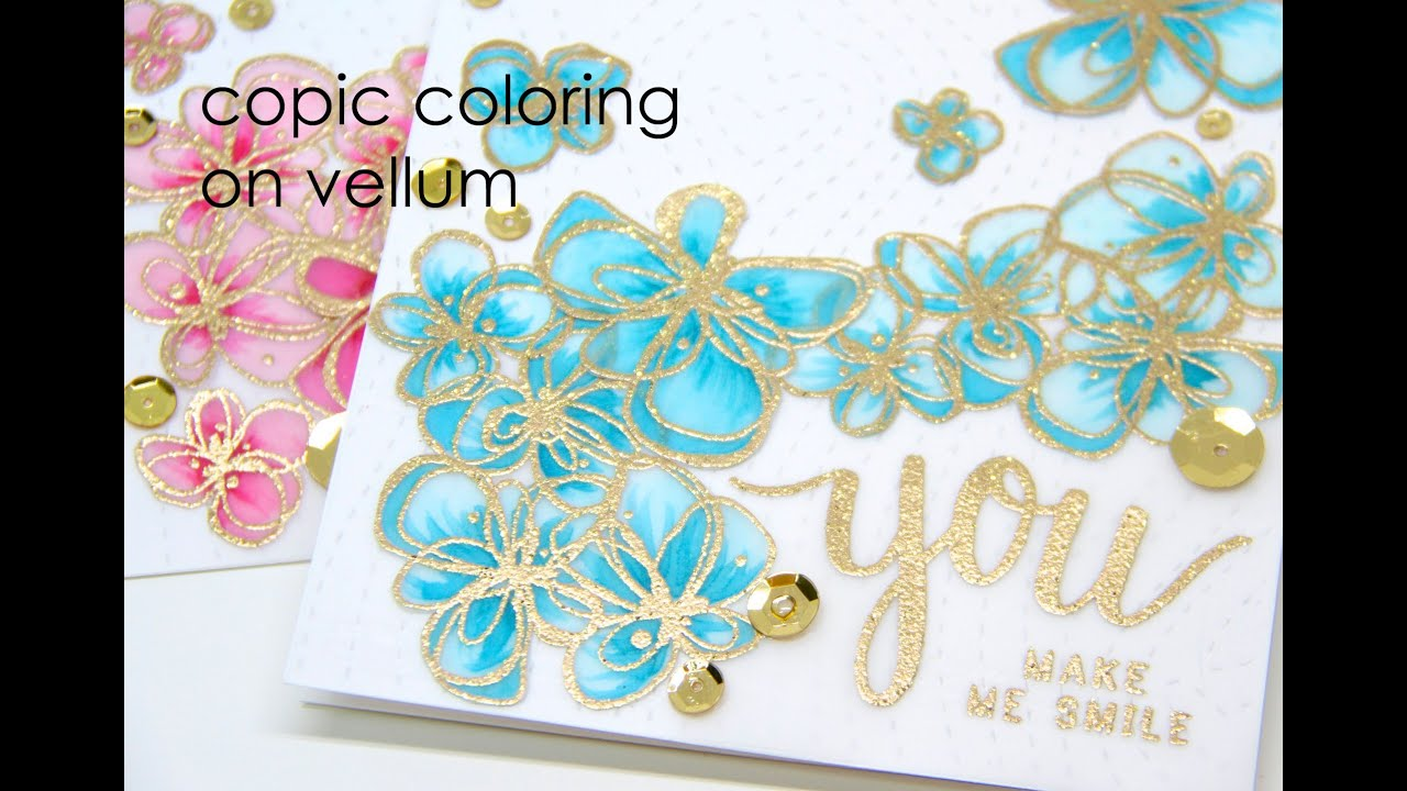 Copic Coloring on Vellum - YouTube