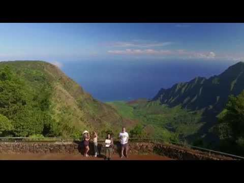 Kalalau Valley, Waimea Canyon, and Napali Coast Kauai Hawaii Drone Footage