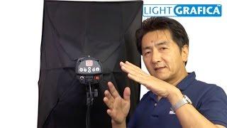250W ストロボ照明発光部とソフトボックス、ライトスタンドのセットです...